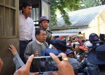 Aye Maung, Wai Hin Aung handed 20-year sentences for high treason
