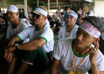 Civil society groups from across Myanmar hold anti-hydropower protest