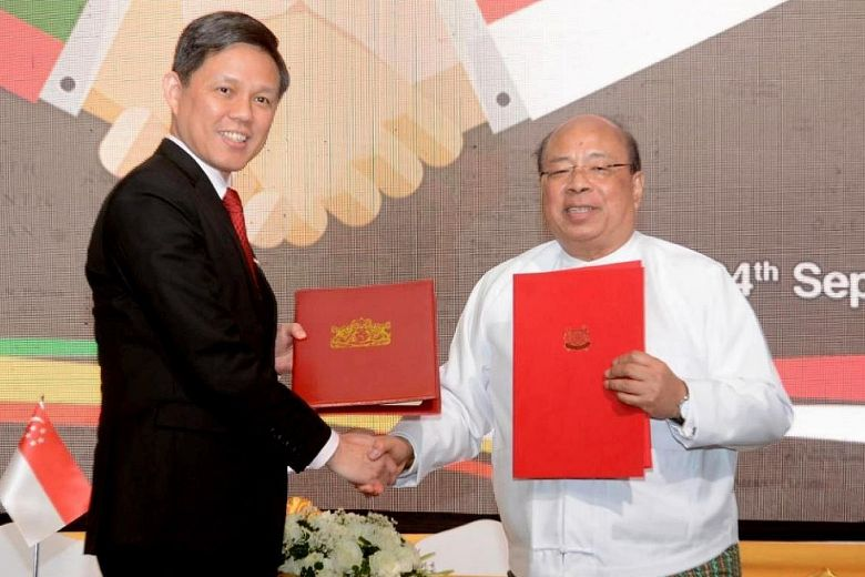 Myanmar and Singapore sign treaty on promoting investments